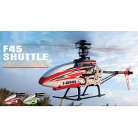 MJX F45 4-channel single rotor 2.4GHz Mini RC Helicopter (Red with Camera)
