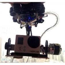 Carbon Fiber Roll/Pan Camera Gimble Photography PTZ+Anti-vibration Set for GoPro 3 HD Hero 3 Camera