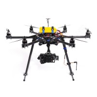 SkyKnight X6-850 High-strength Carbon Fiber FPV Hexacopter Multicopter Frame Kit w/ Landing Skid