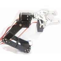 5DOF Mechanical Robotic Arm with Metal Servo Horn & 5PCS Towerpro MG995 Servo and Metal Servo Bracket