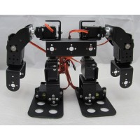 8DOF Humanoid Biped Robotic Educational Robot Mount Kit +8pcs MG945 Servos w/ Metal Servo Horn
