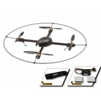GAUI 500X-S Quad Flyer Combo Kit (Including Scorpion Motors, ESCS, Storage bag,Protection Frame, GU-344) 222003