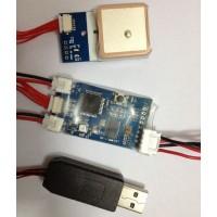 Remzibi V1.79 OSD W/MTK3329 10HZ GPS module & USB cable for program FPV