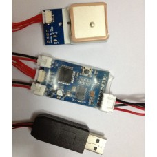 Remzibi V1.79 OSD W/MTK3329 10HZ GPS module & USB cable for program FPV