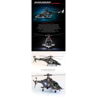 Walkera V450BD5 with DEVO 10 Transmitter 6CH 3D Airwolf 450 size RC Fuselage Style Helicopter RTF 2.4Ghz (with Aluminium case)