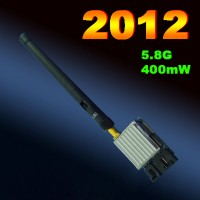 FPV 5.8G 400MW Video Audio A/V Transmitter TX 4KM for 5.8GHz TS353 Rx