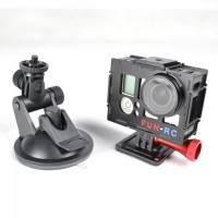 Gopro3 Housing Case Protector with Mounting Bracket+UV Glass Protector for FPV Camera Photography