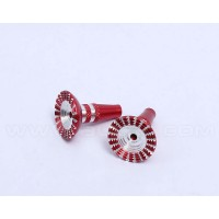 Transmitter Thumb Stick Upgrade ( M4) Size for Futaba JR Spektrum DXX-Red
