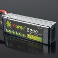 LION Power 11.1V 2200MAH 40C High Discharge LiPo Battery for RC Hobby