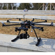 1050mm Carbon Fiber FPV Octagoncopter Octa Folding Multicopter Aircraft w/ Landing Skid Set for FPV Aerial Photography