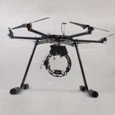 1100mm RTF Professional HexaCopter Complete Kit (Hexacopter+DJI WKM+3 axis Camera Gimbal/Landing Skid+Propeller)
