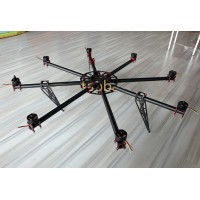 Hovering-6 Carbon Fiber 6kg FPV Multicopter Octocopter Frame with Customized Motor & ESC