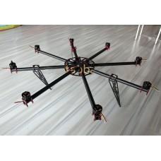 Hovering-6 Carbon Fiber 6kg FPV Multicopter Octocopter Frame with Customized Motor & ESC