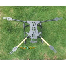 ATG TT-X4-16-600 Fiber Glass Quadcopter Sipder Folding Multicopter Frame with Tall Landing Skid(Fit APM2.5/Rabbit II)
