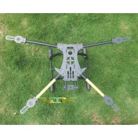 ATG TT-X4-16-650 Fiber Glass Quadcopter Sipder Folding Multicopter Frame with Tall Landing Skid(Fit APM2.5/Rabbit II)