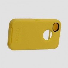 Yellow Silicone Hard Tough Heavy Duty Protective Hybrid Defender Case iPhone 4S