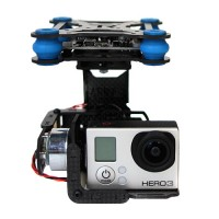 TX-2 Glass Fiber Gopro 3 (2208)Brushless Two-Axis Camera Gimbal Direct Drive FPV Camera Mount Multicopter Photography