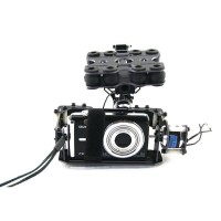 Brushless motor Control Gimbal PTZ Camera Mount for Card Camera Gopro ILDC FPV