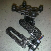 Two Axis Carbon Fiber Brushless Camera Gimbal PTZ with 4 Rubber Ball for Gopro Camera
