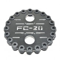 FC-A20 Glass Fiber Anti-Vibration Plate Set w/ 20pcs Shock-Absorbing Rubber Balls for FPV Camera Gimbal