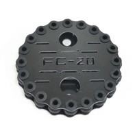 FC-A20 Carbon Fiber Anti-Vibration Plate Setw/ 20pcs Shock-Absorbing Rubber Balls for FPV Camera Gimbal