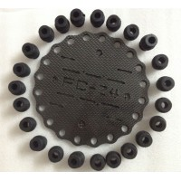 FC-A24 Carbon Fiber Anti-Vibration Plate Setw/ 24pcs Shock-Absorbing Rubber Balls for FPV Camera Gimbal