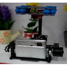 TX-2 Glass Fiber Brushless Two-Axis Camera Gimbal Direct Drive FPV PTZ Multicopter Photography for Digital Camera