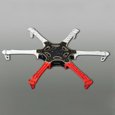 Tarot Newly Designed Composite Material Hexacopter Main Frame Kit FY550 TL2778 (White+Red)