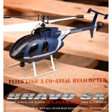 Nine Eagles Bravo SX 320A 4CH RTF Helicopter (Blue Edition 2.4 GHz )