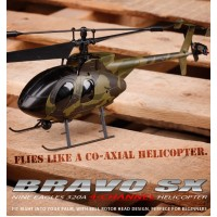Nine Eagles Bravo SX 320A 4CH Helicopter RTF (Army green Edition 2.4 Ghz )