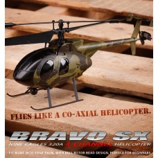 Nine Eagles Bravo SX 320A 4CH Helicopter RTF (Army green Edition 2.4 Ghz )