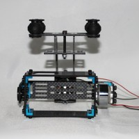 Two-Axis FPV Gopro Brushless Camera Gimbal + 2pcs Motor Aerial Photography Carbon Fiber for Gopro 1/2/3 Camera