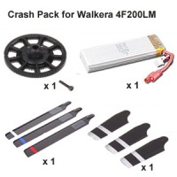 Crash Pack for Walkera 4F200LM Helicopter (Black)