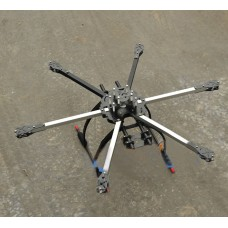 FY-650 650-X6 Alumium Folding Hexacoptor Frame FPV Quad Multi-copter w/ 190mm Landing Skid