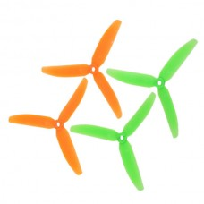 2 Pairs Gemfan 5030 5030R 3-Blades CW CCW Propeller for Micro Multicopter-Orange and Green