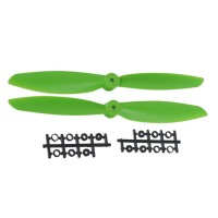 "11x4.5"" 1145 1145R Counter Rotating  CW CCW Propeller For MultiCopter-Green"