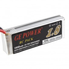GE POWER 1800mAh 35-70C High Discharge Rechargeable Lithium Polymer Battery