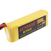 GE POWER 2200mAh 25C 11.1V Rechargeable Lithium Polymer Battery