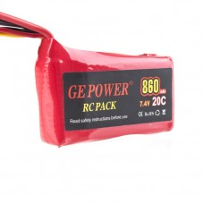 Lipos Battery RC Pack 860mAh 7.4V 20C