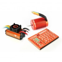 Skyrc Leopard  60A 12T ESC 3300KV Brushless Motor 1/10 Car Combo with Program Card