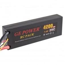GE POWER 4200mAh 25C 7.4V Rechargeable Lithium Polymer Battery