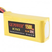 GE POWER 1500mAh 25C 11.1V Rechargeable Lithium Polymer Battery