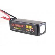 GE POWER 4000mAh 25C 22.2V Rechargeable Lithium Polymer Battery