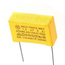 1.5uf 275VAC Polypropylene Film Capacitor 10-Pack