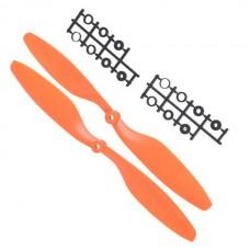 "10x4.5"" 1045 1045R Counter Rotating Propeller Blade For Quadcopter MultiCoptor-Orange"