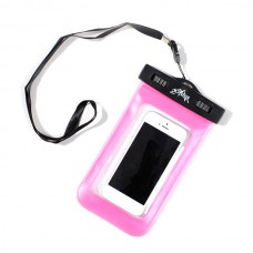 "Waterproof 20M Dry Diving Pouch Cover Case Bag For iPhone 5 4 4S 4.5"" Cellphone-Pink"