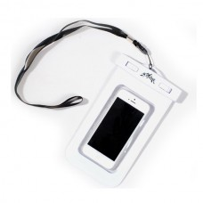 "Waterproof 20M Dry Diving Pouch Cover Case Bag For iPhone 5 4 4S 4.5"" Cellphone-White"