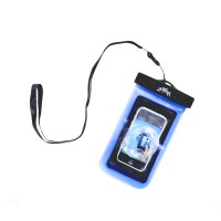 Outdoor Sport Swimming Beach Phone Camera 20M Waterproof Dry Bag Pouch Lens Protector-Blue