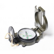 Flip-Open Classic Military Pocket Marching Lensatic Compass for Camping Hiking Outdoor Activity