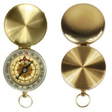 Classical Solid Brass Pocket Compass For Outdoor Sports Camping & Hiking